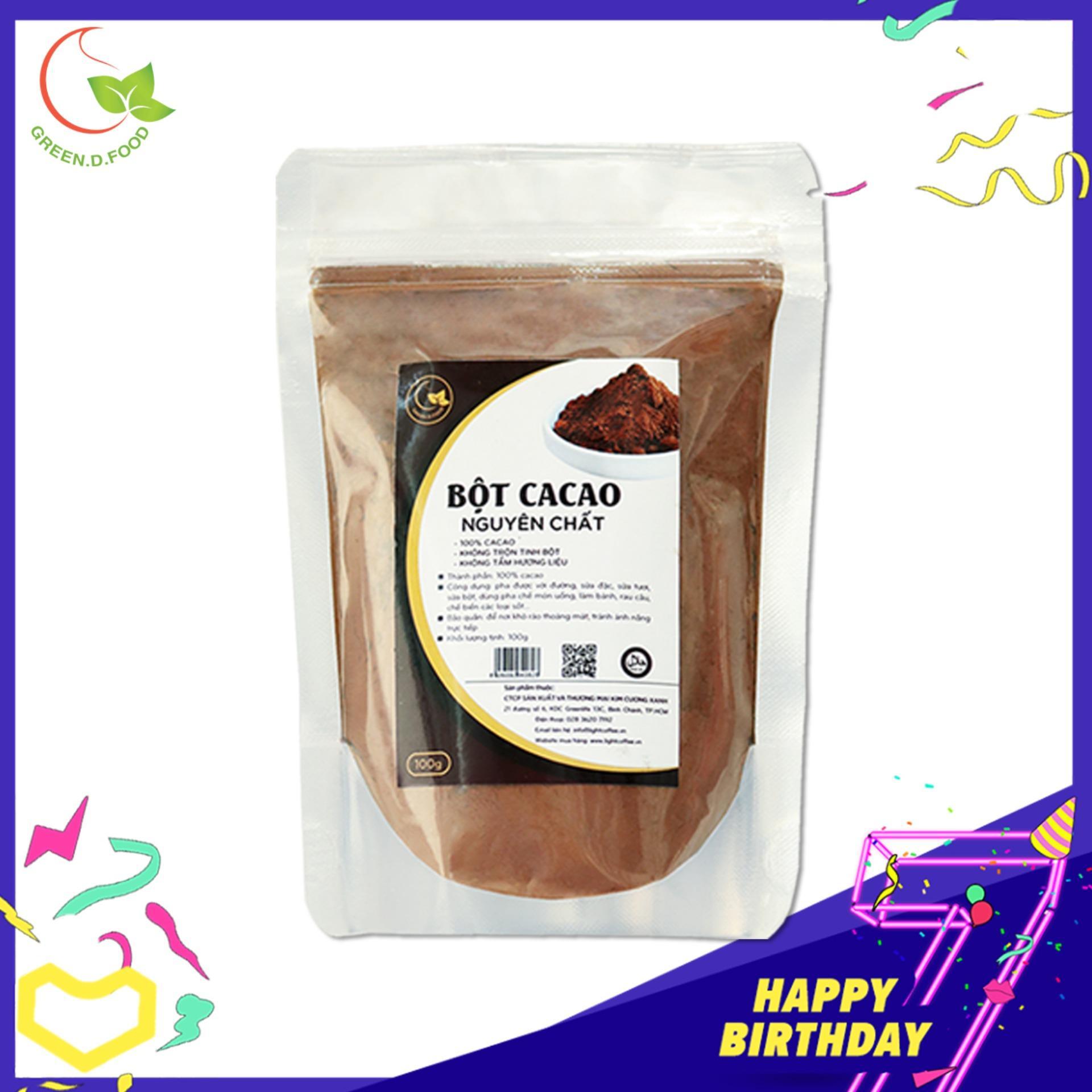 Cacao nguyên chất 100% - Light Ca cao - 100gr
