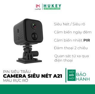 Camera mini wifi IP Hukey Vision A21 siêu nét Full HD 1080P - Cảm biếng nhiệt PIR-Cảm biếng hồng ngoại ngày và đêm thumbnail