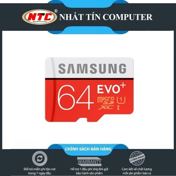 Thẻ nhớ MicroSDXC Samsung Evo+ 64GB UHS-I U1 80MB/s - Không Box (Đỏ)