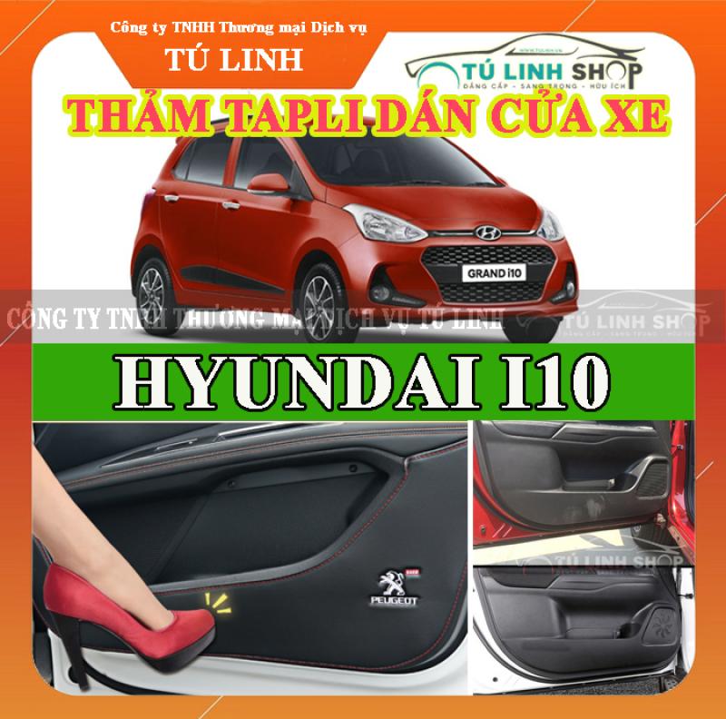 [Lấy mã giảm thêm 30%]Bộ 4 Thảm Tapli dán cánh cửa chống trầy xước xe I10