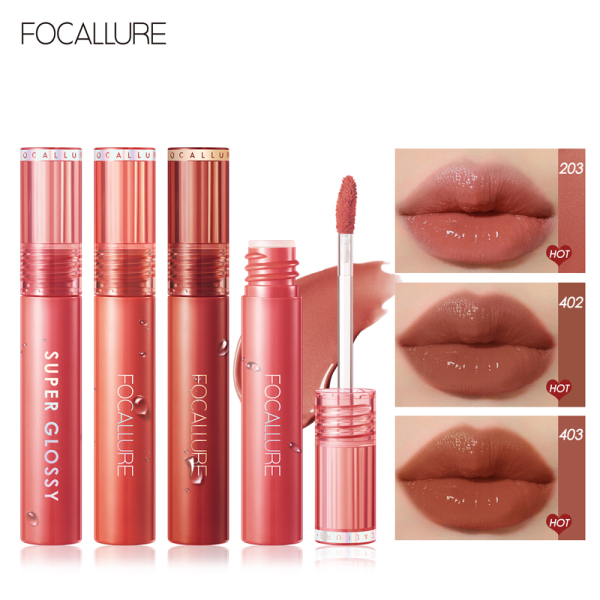 Focallure Soft Smooth Watery Bouncy Lip Gloss Non-Stick Cup Glossy Liquid Lipstick High Pigment Long-Lasting Jelly-Clear Dewy Lip Tint giá rẻ