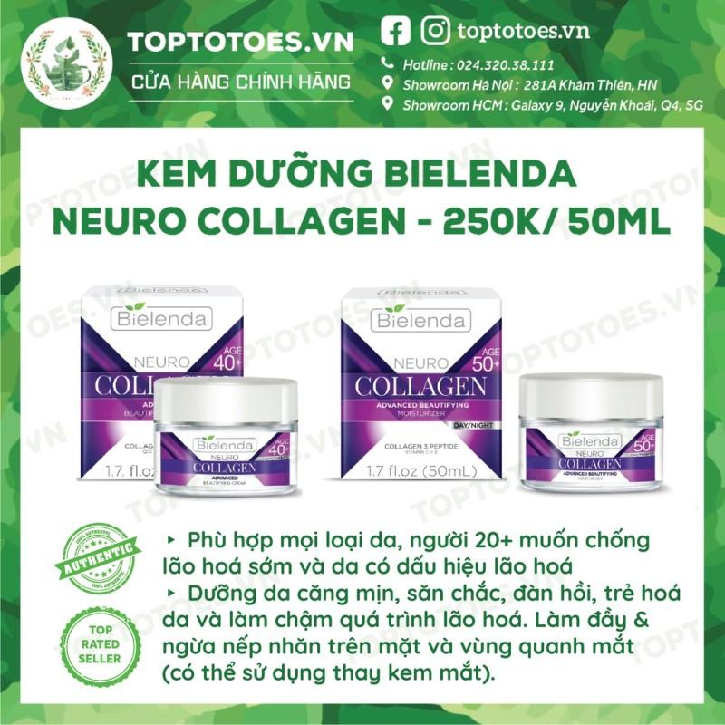 Kem dưỡng Bielenda Neuro Collagen dưỡng ẩm sâu, trẻ hoá, giúp da căng mịn, đàn hồi