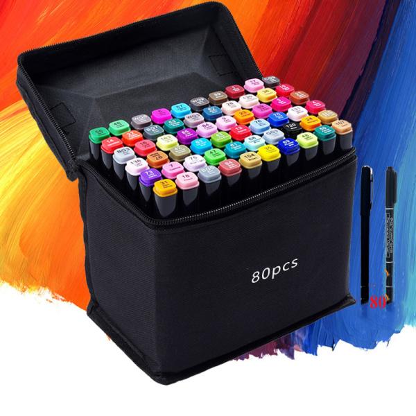 Mua Bút Marker Touch Cool Túi Vải 30/40/60/80 Màu Chuyên Nghiệp