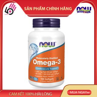 Thực phẩm bổ sung Omega 3-Dầu cá bổ sung EPA DHA bổ mắt, não, tim mạch của Mỹ, 1000 mg, Now Foods, 100 Viên thumbnail