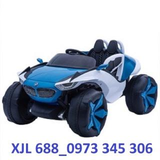 Ô tô điện trẻ em BABY-KID XJL-688 mẫu thể thao mới 4 động cơ siêu khỏe 2 ghế bình lớn 12V 7A - Bảo hành 6 tháng thumbnail