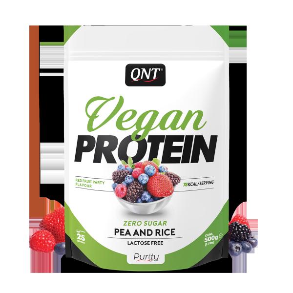 Thực phẩm bổ sung Vegan Protein Trái Cây Đỏ