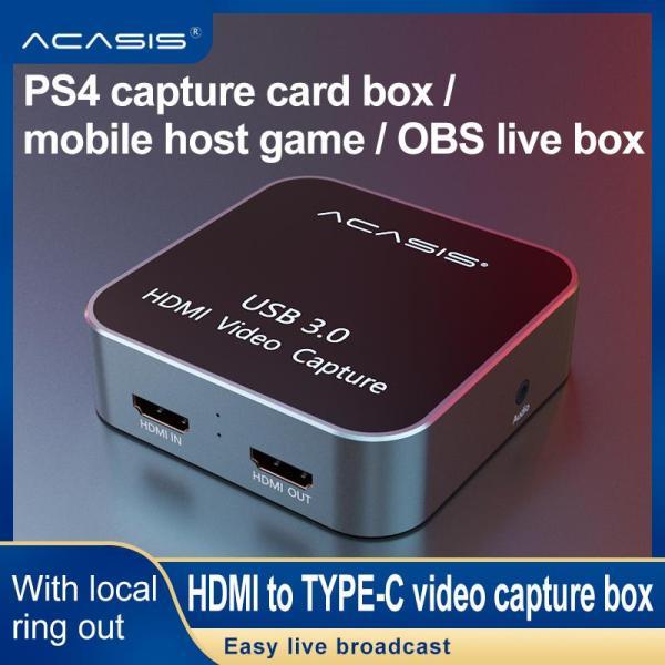 Bảng giá Thẻ Ghi Video HDMI Sang USB 3.0 HD Đầu Vào HDMI Sang Đầu Ra HDMI Hộp Ghi Trò Chơi HD 1080P Phát Trực Tiếp Tương Thích Với Các Hệ Thống Windows/Mac/Linux, dành Cho PS4/3 Xbox One/360 Wii U Ezcap261-Quốc Tế Phong Vũ