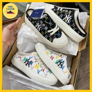 Giày sục nữ thể thao NY họa tiết nhiều màu cực xinh HOT TREND 2021 Meomeoshoes, giày sục nữ thể thao đẹp cực xinh mang siêu êm chân thumbnail