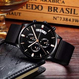Đồng hồ nam cao cấp ECONOMICXI dây thép không gỉ mặt thiết kế điểm nhấn lịch lãm WMH07 thumbnail