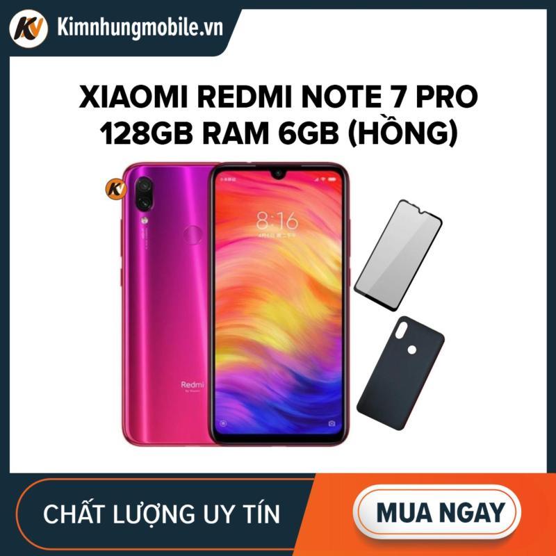 Xiaomi Redmi Note 7 Pro 128GB Ram 6GB Kim Nhung (Hồng) + Cường lực + Ốp lưng