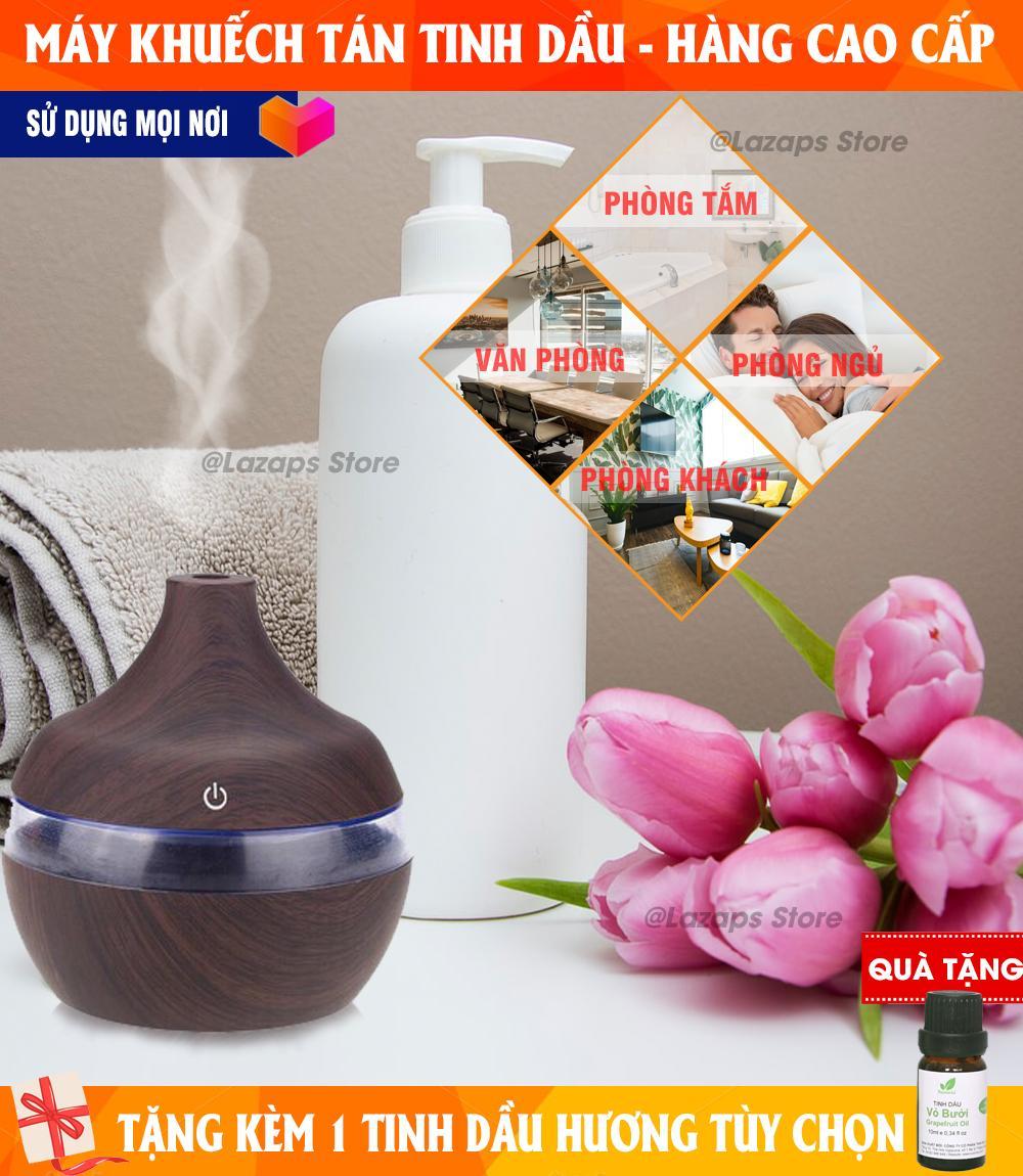 Máy phun sương tinh dầu 300ml, máy khuếch tán tinh dầu, xông tinh dầu phun sương - giúp thanh lọc không khí, lan tỏa mùi hương dễ chịu - an toàn và dễ sử dụng - Tặng 01 lọ tinh dầu thơm trị giá 70K!