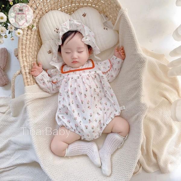 Giá bán Body Bé Gái -  - Set Body cho bé kèm Mũ xinh xắn Hàng Cao Cấp