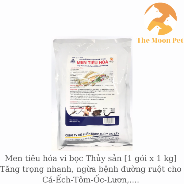 Men tiêu hóa vi bọc Thủy sản [1 gói x 1 kg] Tăng trọng nhanh, ngừa bệnh đường ruột cho Cá-Ếch-Tôm-Ốc-Lươn,....