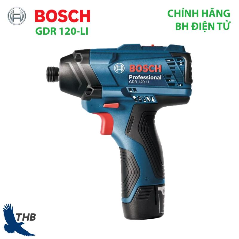 Máy bắt vít dùng pin Bosch GDR 120-LI Dùng Pin 12V-2Ah bảo hành chính hãng 6 tháng