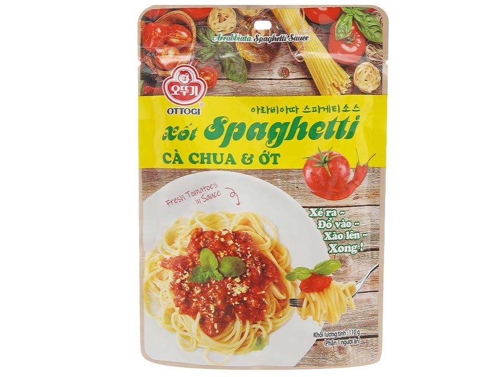 Xốt mì Spaghetti vị cà chua và ớt Ottogi gói 110g