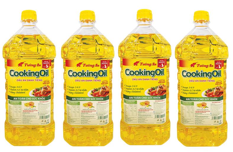 Combo 4 Chai Dầu Ăn Cao Cấp Tường An Cooking Oil 2L