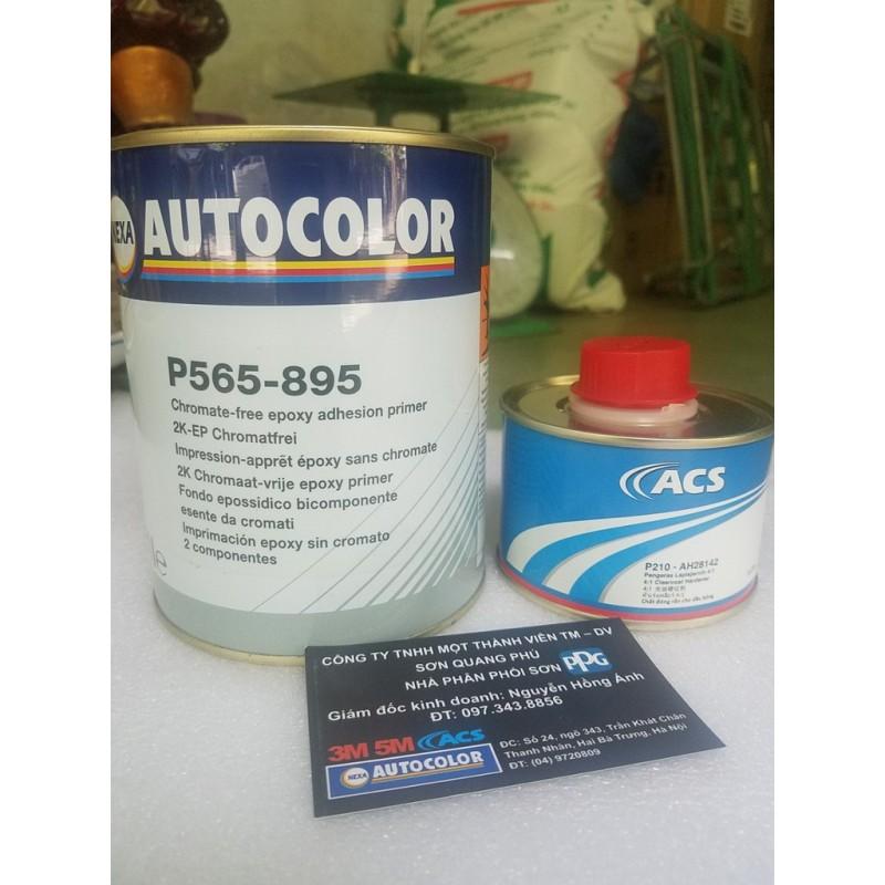 P565-895 Sơn lót 2K chính hãng Nexa Autocolor cao cấp lon 1L và đóng rắn 0.25l