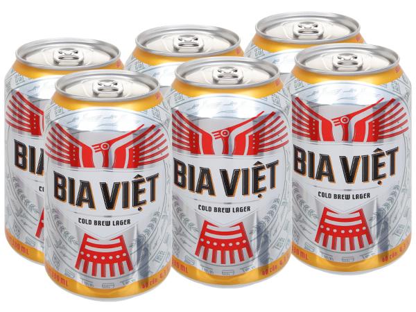 [QUÀ TẶNG] Lốc 6 lon bia Bia Việt 330ml