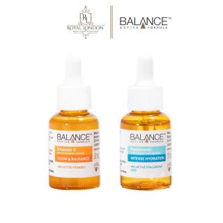 Combo trắng da căng mượt serum Vitamin C + serum Hyaluronic Balance Active Formula 30ml chai thumbnail