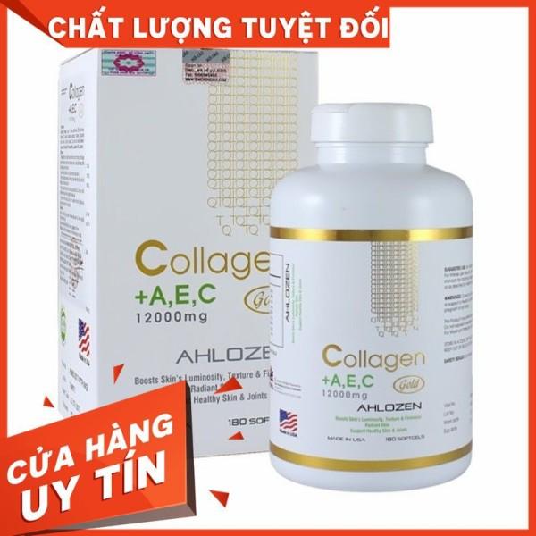 Viên uống Collagen A E C Gold 12000mg Ahlozenhộp 180 viên Date 2022