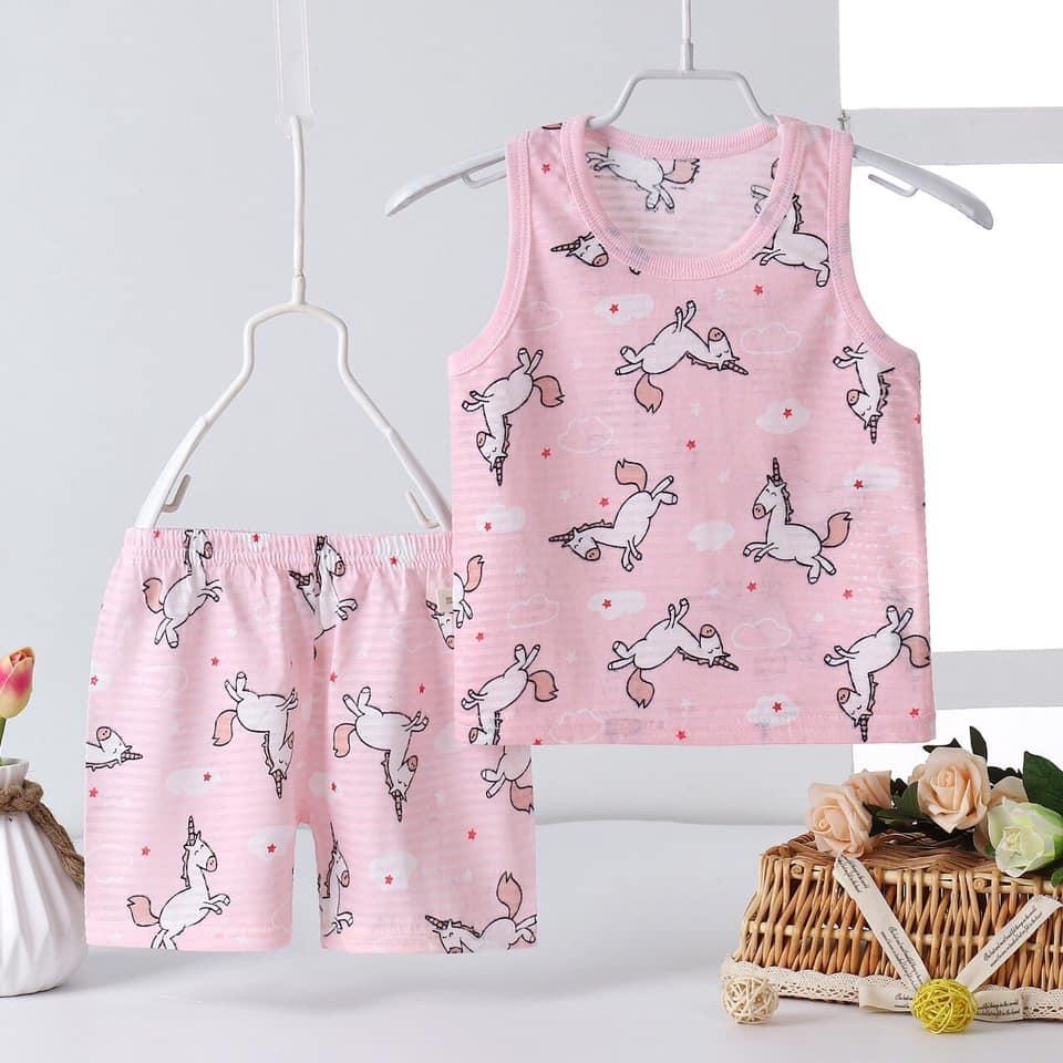 Bộ quần áo nách cho bé