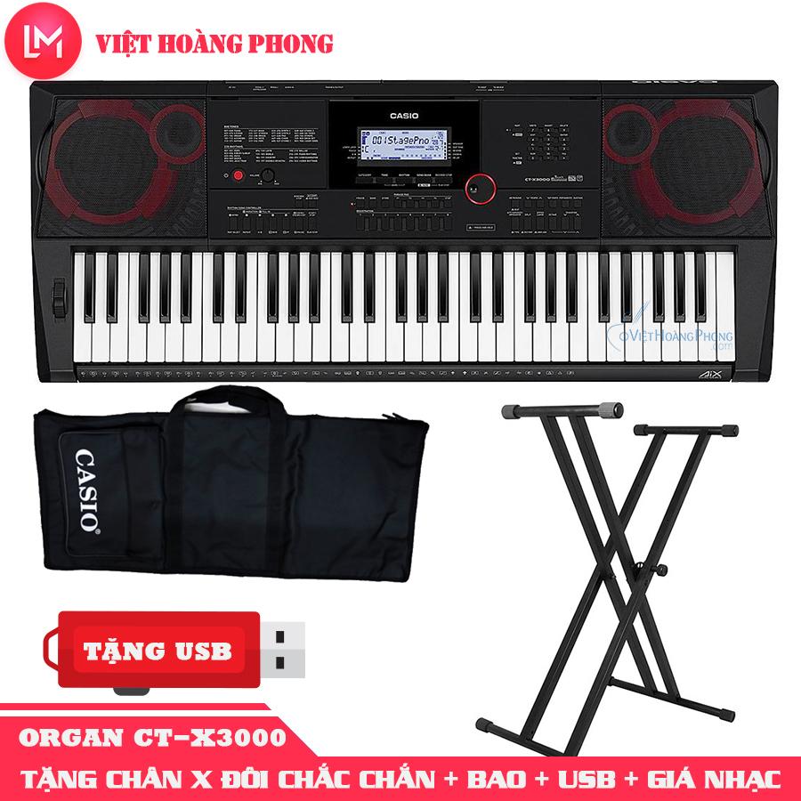 Đàn Organ Casio CT-X3000 kèm + CHÂN X ĐÔI + USB + Giá nhạc +AD + Bao đàn - Bảo hành 2 năm - Việt Hoàng Phong