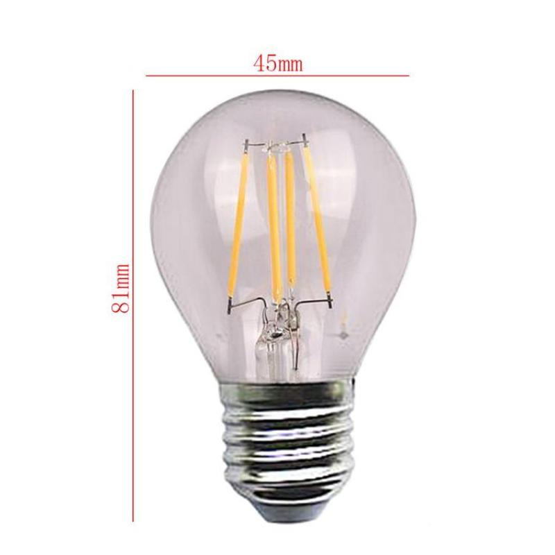 PER Edison LED Bulb Unique Exquisite Energy-saving Bulb Warm White 4W 110-220V E27 Standard Lamp Holder