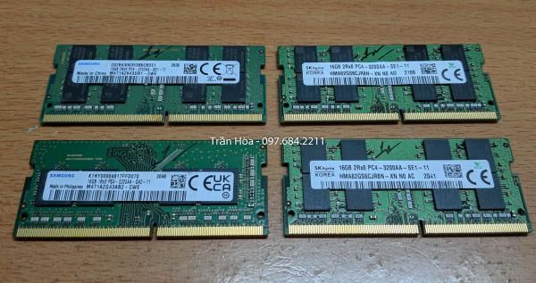 Bảng giá Ram laptop 16GB PC4-3200 (DDR4-3200), Ram 16GB DDR4 Bus 3200MHz SODIMM. Phong Vũ