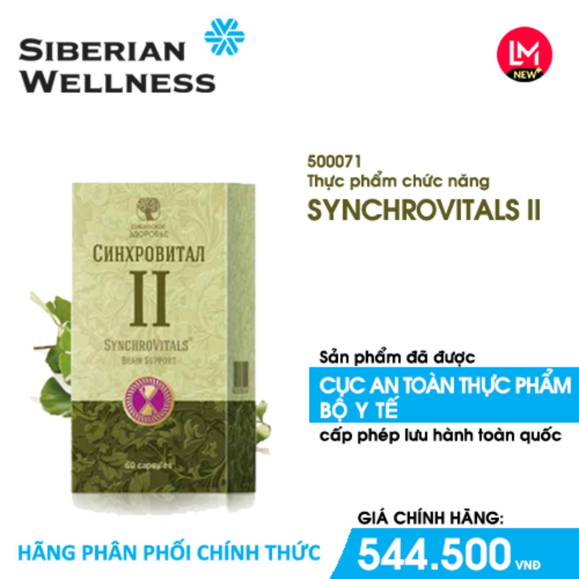 Synchrovitals Ii Cung Cấp Ginsenoside, Flavonol Glycoside, Baicalin Nâng Cao Khả Năng Làm Việc Trí óc - Hãng Phân Phối Chính Thức By Siberian Wellness.