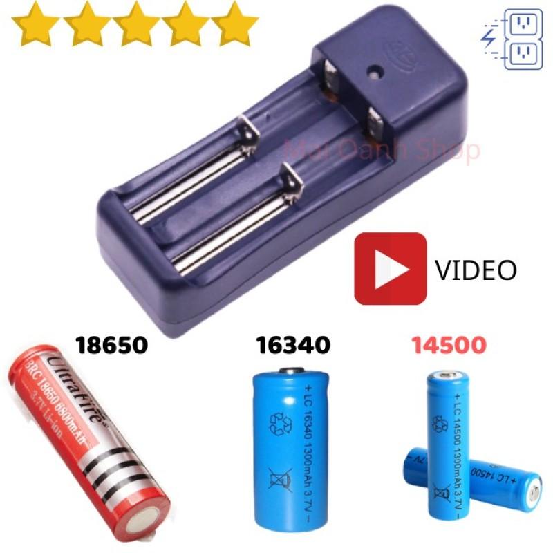 Bộ Sạc Đôi Đa Năng Dùng Cho Các Loại Pin Li-Ion 18650 16340 14500 (3,7-4,2V) - SCD02