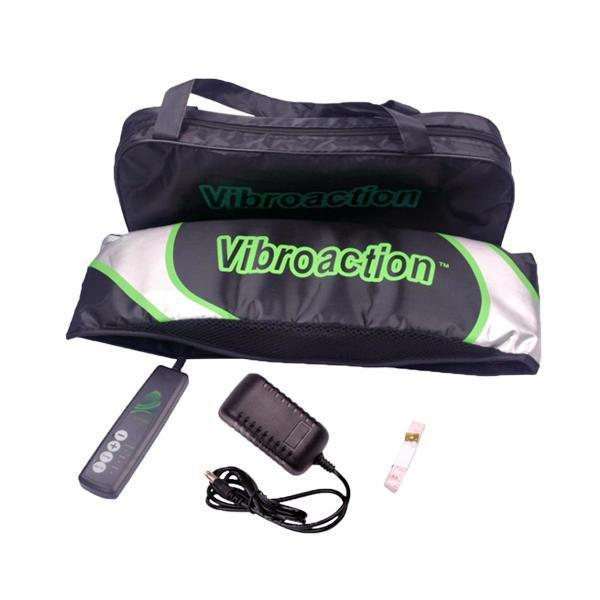 Máy massage VibroAction giảm mỡ bụng (Trắng xanh)