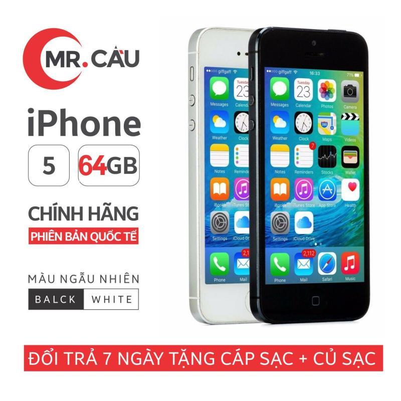 Điện thoại Apple iPhone 5 - 64GB - Bản quốc tế - Full phụ kiện - Bảo hành 6 tháng - Đổi trả miễn phí tại nhà - Yên tâm mua sắm với Mr Cầu ( Điện thoại giá rẻ, điện thoại smartphone, Điện thoại thông minh)