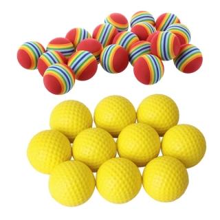 20Pcs Golf Balls Of Sponge for Training & 10Pcs Yellow Soft Elastic Indoor Practice PU Golf Ball thumbnail