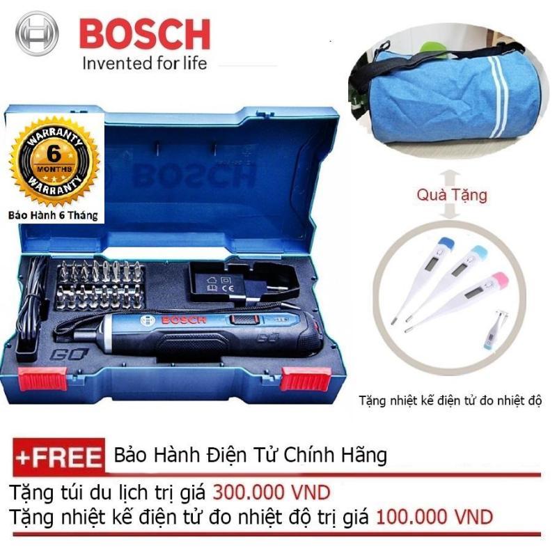 Máy vặn vít dùng pin Bosch Go KIT 33 chi tiết + Quà tặng thiết bị lấy dáy tai có đèn