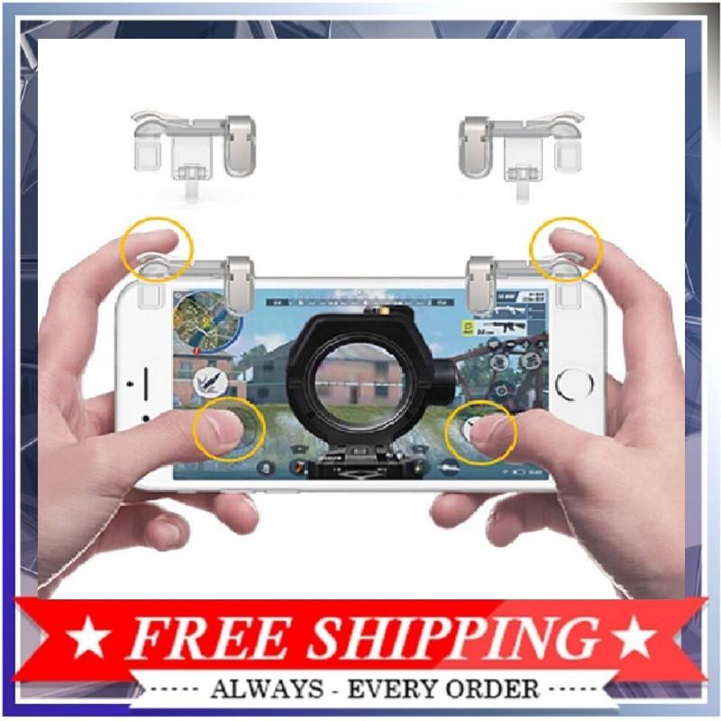 Bộ 2 nút bấm cơ K01 kim loại nút bấm game pubg nút hỗ trợ chơi game trong suốt Hỗ Trợ Chơi Game PUBG Mobile, Ros Mobile
