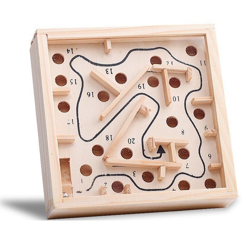 Đồ chơi lăn bóng mê cung bằng gỗ, phát triển...