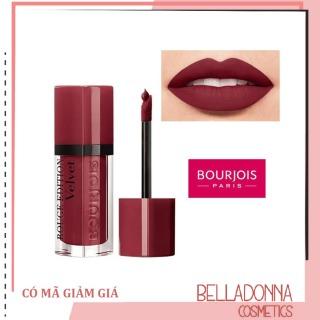 Son lì Bourjois Rouge Edition Velvet 24 Dark Cherie - đỏ cherry đậm lên môi là thấy sang chảnh thumbnail