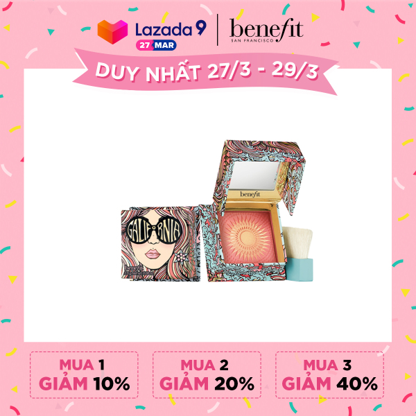 Phấn má hồng Benefit GALifornia - Sunny Pink 2.5g (minisize)