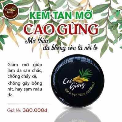 [VUA TAN MỠ] Cao Gừng Tan Mỡ Thiên Nhiên Việt - Có Tem Chống Hàng Giả nhập khẩu