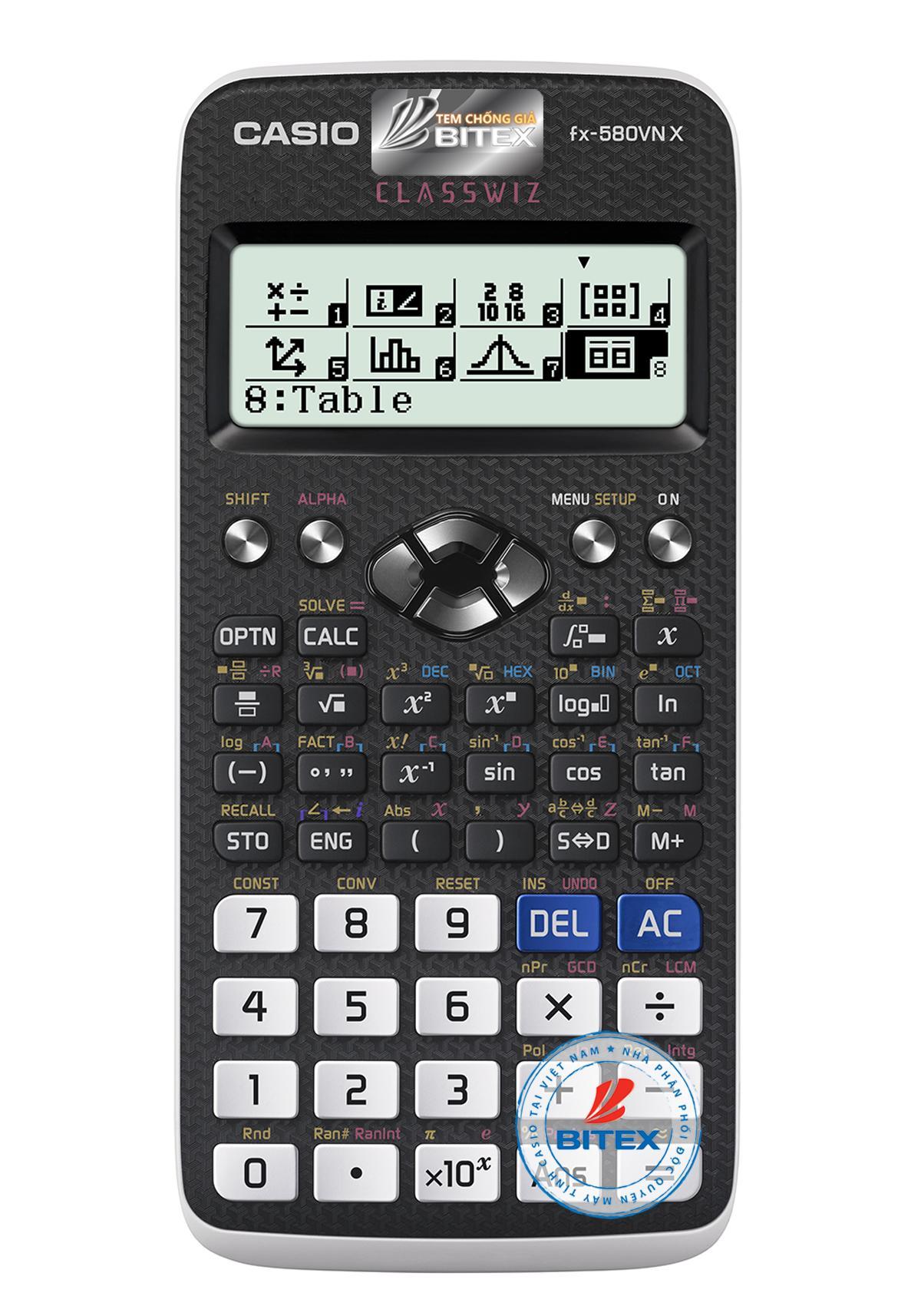 Mua Máy tính Casio FX-580VN X  - Bảo hành 2 năm - N/k Bitex