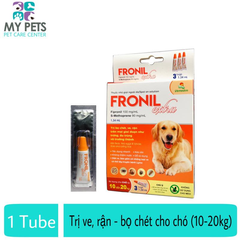 Fronil Extra nhỏ gáy hết ve rận, bọ chét cho chó (size 10-20kg) (VMD) - Lẻ 1 tuyp. ( 1 tubes. no box)