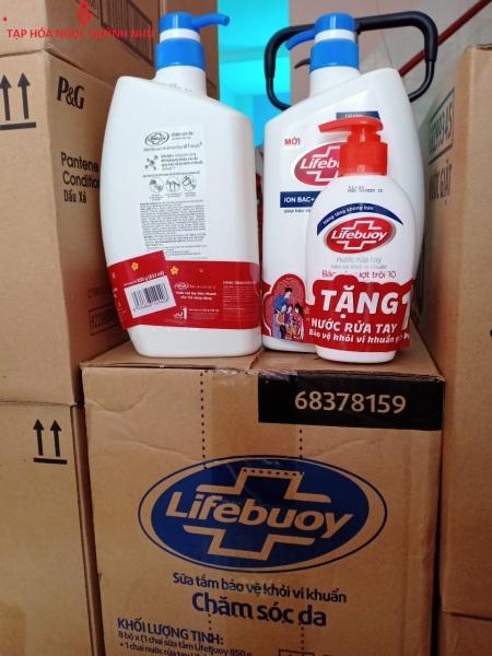 Sữa tắm LIFEBUOY 850g tặng nước rửa tay 120g