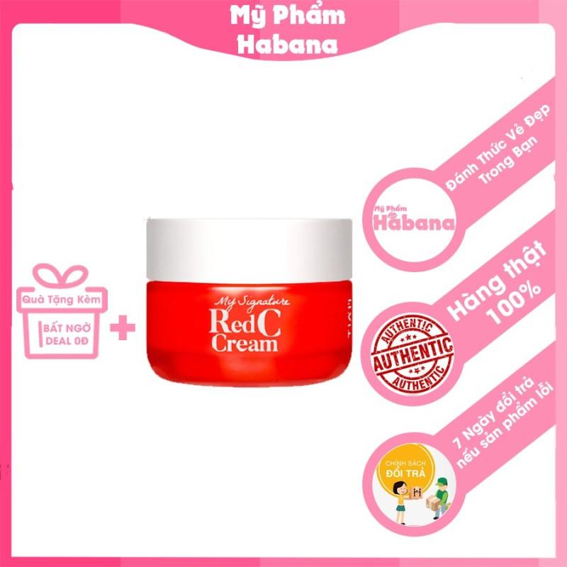 Kem dưỡng ẩm trắng da TIAM My Signature Red C Cream 50ml