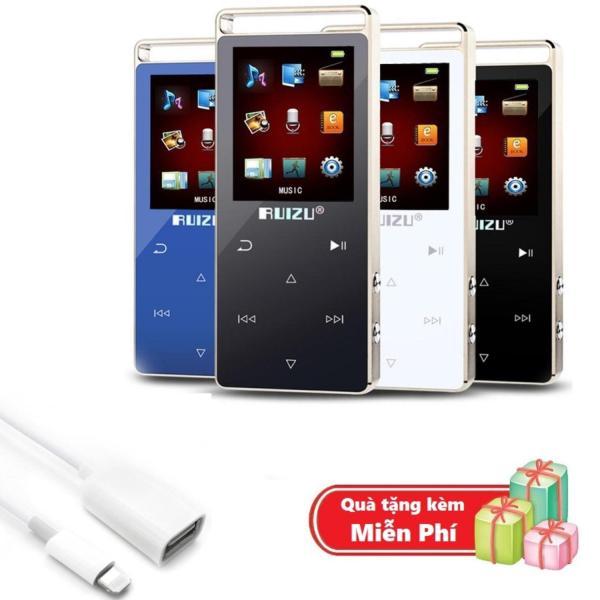 ( Quà tặng Cáp OTG cho iphone ) Máy nghe nhạc MP3 RUIZU D01 Bộ nhớ trong 8GB hỗ trợ thẻ nhớ tối đa 128GB