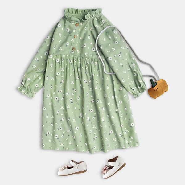 Giá bán Váy Cho Bé Gái Dáng Xòe Dài Tay Họa Tiết Xinh Xắn Thời Trang Cao Cấp