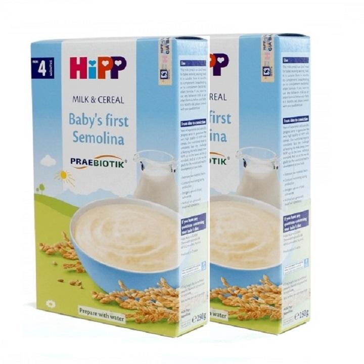 Bộ 2 Bột sữa dinh dưỡng ăn dặm khởi đầu HiPP (250g)