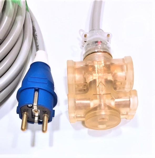 Dây điện cuộn 5m lỏi đồng 2x2.5-ổ cắm đúc nguyên khối có đèn-không vở-siêu chặt-siêu bền-sử dụng an toàn