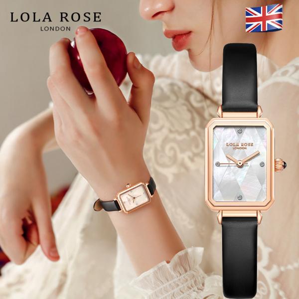 Nơi bán Đồng hồ nữ chính hãng, đồng hồ Lolarose thiết kế từ Anh mặt vuông làm vỏ ngọc trai cao cấp, dây da bò Italy thấm hút tốt phù hợp cô nàng thanh lịch bảo hành 2 năm LR2182