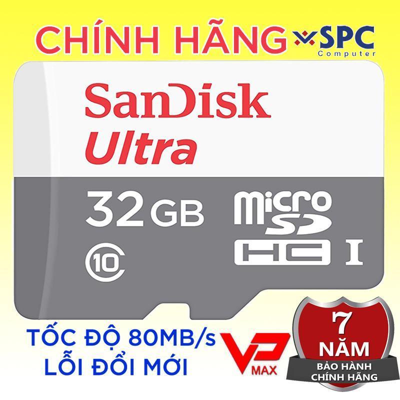 Thẻ nhớ Sandisk Ultra 32Gb Class 10 bảo hành 7 năm Vĩnh Xuân