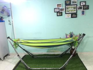 Bộ võng xếp du lịch BAN MAI khung sơn tĩnh điện VIP kết hợp võng vải Canvas gỗ 40 thumbnail